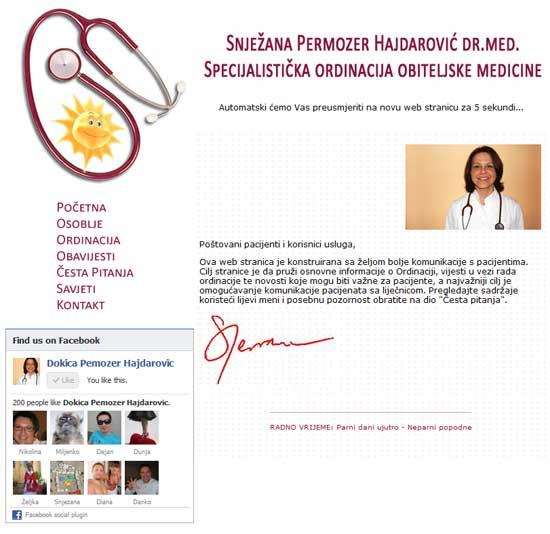 Naslovnica stare web stranice